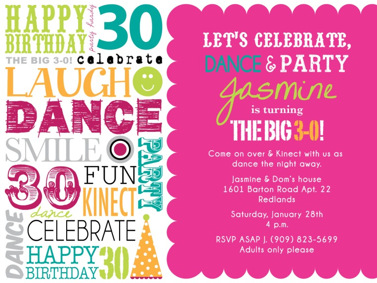 Upcoming event invitation I designed