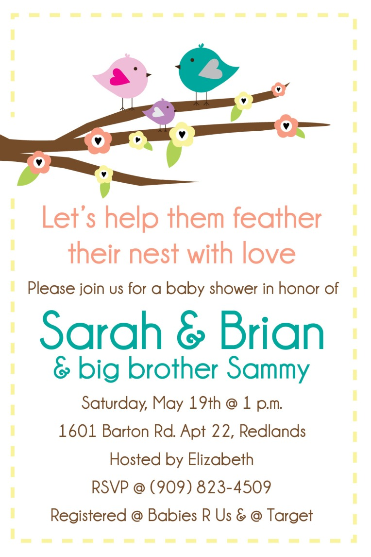 Baby shower invitation I designed & coordinated the decor.