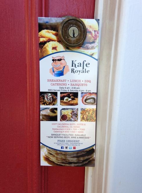KafeRoyale-DoorHanger!!